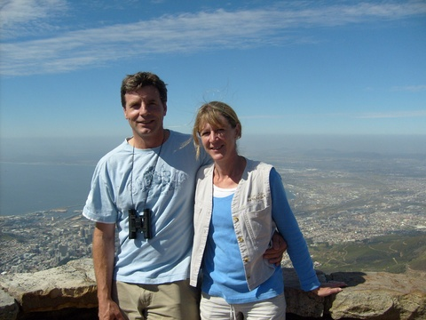 Owners, Dr. Heinz and Debbie Kohrs on a trip to Cape Town