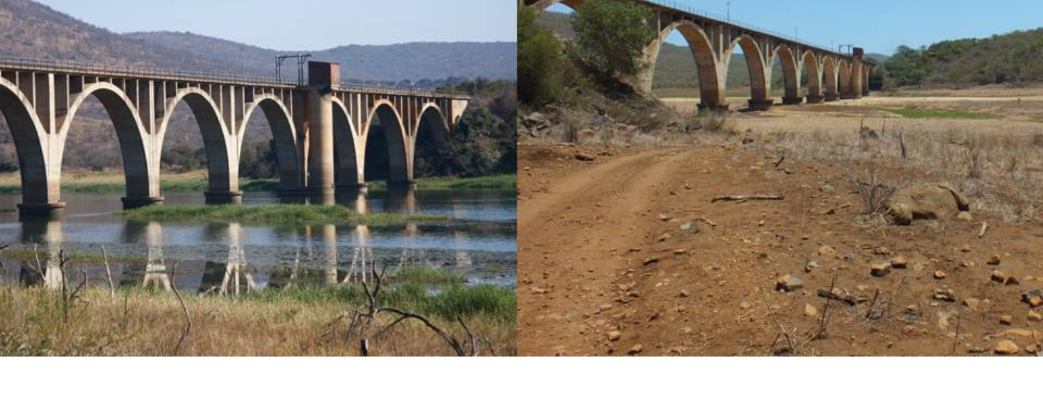 Pongola River dried up due to the drought