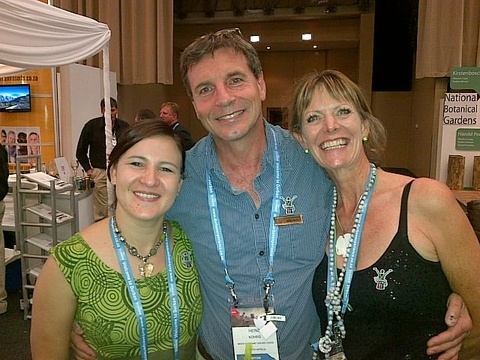 Stephanie (Marketing), Dr Heinz & Caroline (Operations) at Indaba 2014