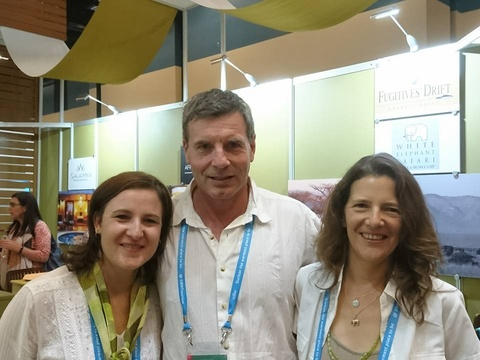 Heike with Heinz Kohrs  and Stephanie at Indaba