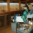 Early morning coffee in the hide