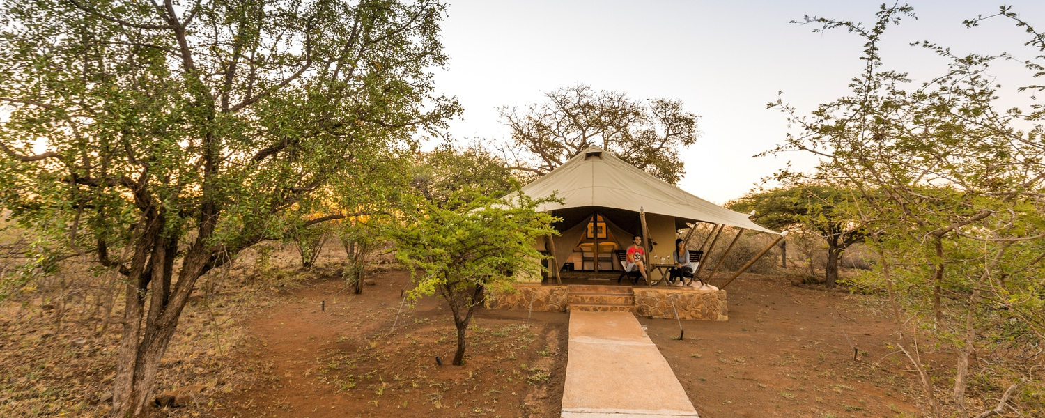 Luxury tents - or as its called glamping